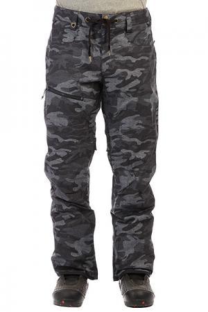 Штаны сноубордические  Forest Oak Black Grey Camokazi Quiksilver. Цвет: черный,серый