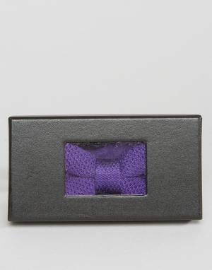 7X Трикотажный галстук-бабочка в упаковке. Цвет: фиолетовый