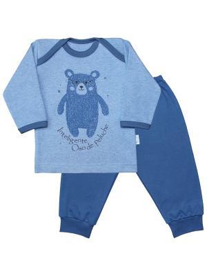 Пижама Веселый малыш. Цвет: синий,серо-голубой