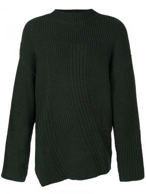 Вязаный свитер Gus Études. Цвет: зелёный