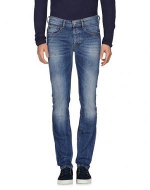Джинсовые брюки-капри UNIFORM. Цвет: синий