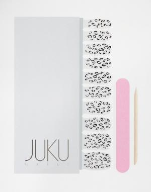JUKU Nails Прозрачные наклейки для ногтей с животным принтом. Цвет: животный
