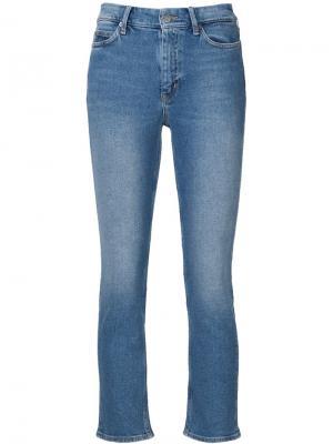 Укороченные джинсы Niki Mih Jeans. Цвет: синий