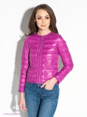 Куртка Oodji. Цвет: фуксия