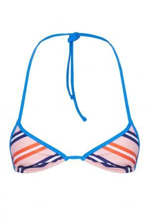 Бюстгальтер от купальника в полоску Diane von Furstenberg. Цвет: multicolor