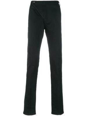 Зауженные брюки с простроченной отделкой D.Gnak. Цвет: чёрный