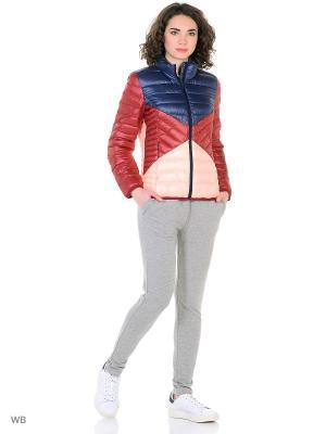 Куртка жен. W CB LW DWN JKT Adidas. Цвет: бордовый, розовый, синий