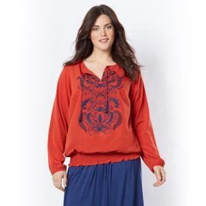 Блузка TAILLISSIME. Цвет: оранжевый