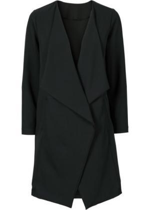 Удлиненный жакет (черный) bonprix. Цвет: черный