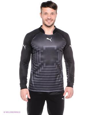 Лонгслив Statement GK Shirt Puma. Цвет: черный, серый