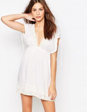 Melissa Odabash Пляжное платье мини. Цвет: кремовый