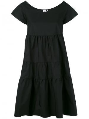 Платье с рюшами Aspesi. Цвет: чёрный