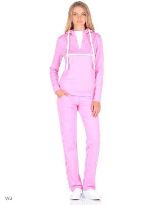Спортивный костюм FORLIFE. Цвет: розовый, белый