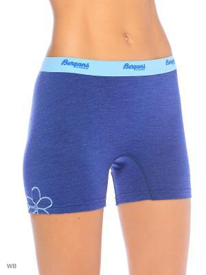 Термобелье-шорты Bergans. Цвет: синий
