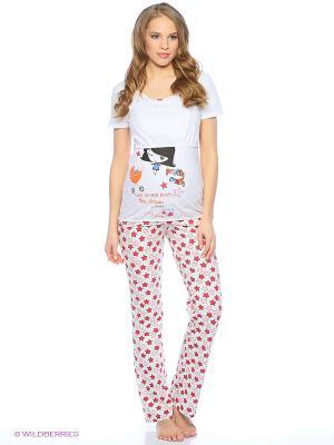 Пижама impressmama. Цвет: красный, белый