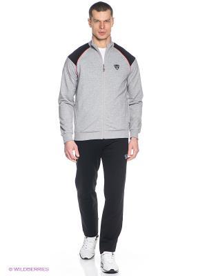 Спортивный костюм RED-N-ROCK'S. Цвет: серый меланж, черный