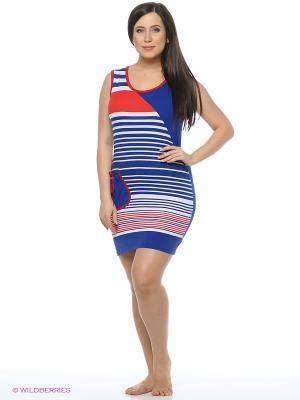 Туника Mojo Collection. Цвет: синий, красный, белый