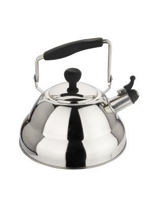 Чайник металлический со свистком 2,7Л DEKOK. Цвет: серый