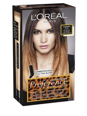 Стойкая краска для волос Preference Wild Ombres, оттенок 1, от светло до темно-каштанового L'Oreal Paris. Цвет: коричневый