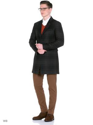 Пальто Trussardi. Цвет: темно-коричневый