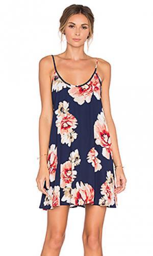 Платье в цветочек Eight Sixty. Цвет: синий