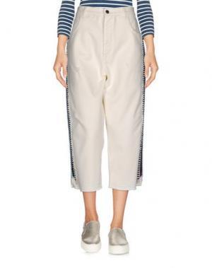 Джинсовые брюки-капри LANEUS. Цвет: грифельно-синий