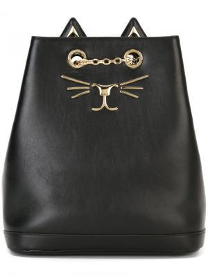 Рюкзак Feline Charlotte Olympia. Цвет: чёрный