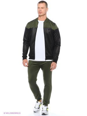 Спортивные брюки ARTIC PANTS HUMMEL. Цвет: зеленый, черный