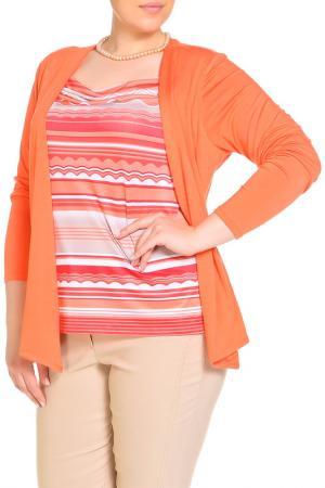 Блуза HELENA VERA. Цвет: красный