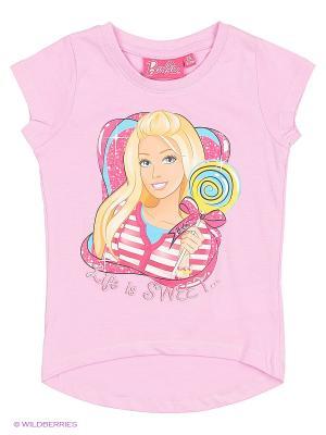 Футболка Barbie. Цвет: розовый