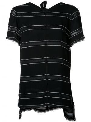 Полосатая футболка Proenza Schouler. Цвет: чёрный