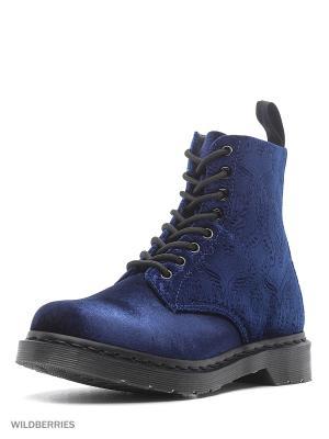 Ботинки Dr.Martens. Цвет: синий