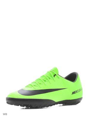 Шиповки MERCURIALX VICTORY VI TF Nike. Цвет: зеленый