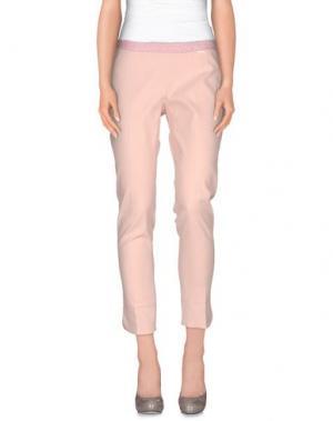 Повседневные брюки REBEL QUEEN. Цвет: светло-розовый