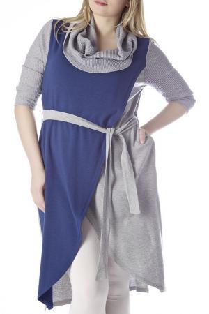 Платье ZEDD. Цвет: серый