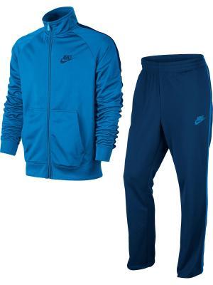 Спортивный костюм M NSW TRK SUIT PK SEASON Nike. Цвет: синий, лазурный
