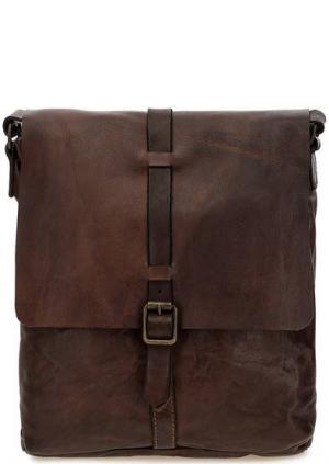 Коричневая сумка из натуральной кожи Campomaggi. Цвет: коричневый