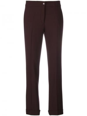 Укороченные брюки слим Etro. Цвет: розовый и фиолетовый
