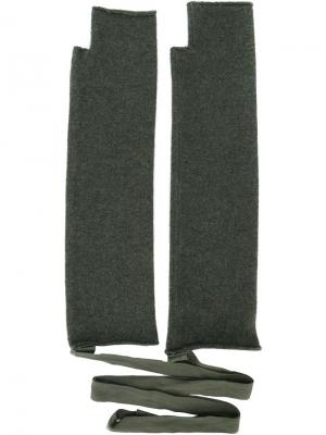 Перчатки No. 14 Extreme Cashmere. Цвет: зелёный