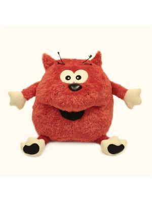 Мягкая игрушка Кот Пончик, Malvina. Цвет: темно-красный