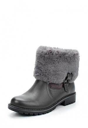 Полусапоги Style Shoes. Цвет: серый