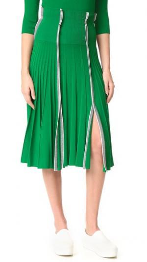 Плиссированная юбка Cedric Charlier. Цвет: зеленый