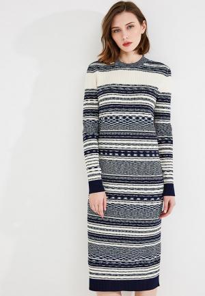 Платье Tory Burch. Цвет: разноцветный