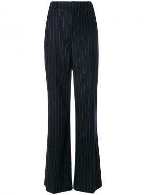 Полосатые брюки клеш Pierre Balmain. Цвет: синий