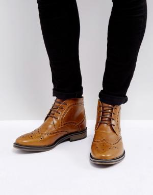 New Look Светло-коричневые ботинки броги. Цвет: рыжий