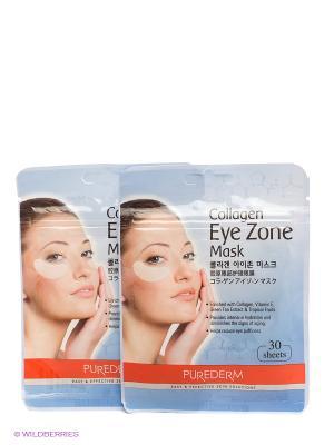 Коллагеновая маска для области вокруг глаз, 2 шт. Purederm. Цвет: голубой