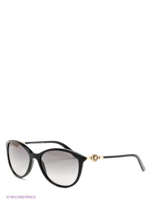 Очки солнцезащитные Versace. Цвет: черный, золотистый