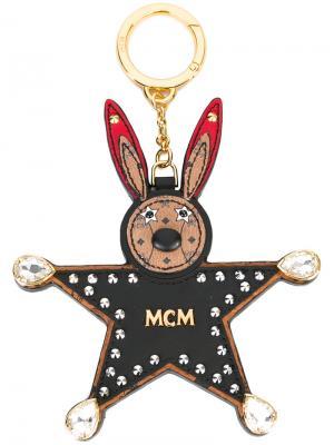 Брелок в виде кролика MCM. Цвет: чёрный