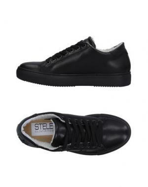 Низкие кеды и кроссовки STELE. Цвет: черный