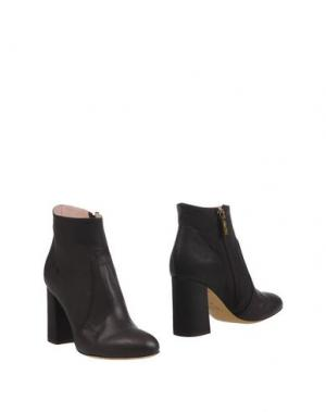 Полусапоги и высокие ботинки FAUZIAN JEUNESSE. Цвет: темно-коричневый